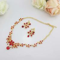 free shipping Neckace earrings set Elegant Rhinestone Jewelry Set for Wedding Bride Party wholesale j127