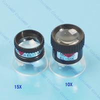 D19Free Shipping 10X + 15X Eye Magnifier Loupe Lens Set Jeweler Tool 2P