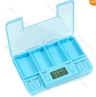 D19 Free Shipping Multi-Alarm Timer Pills Reminder Medicine Box Tablet