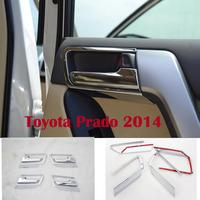 2014 FJ 150 Toyota Land Cruiser Prado Chrome Interior Door Handle Covers - 8PCS