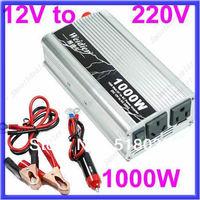 D19+Free Shipping 1000W Car USB DC 12V to AC 220V Power Inverter Adapter