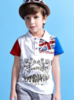 2014 New Arrival Boy T-shirt Fashion London boy top Brand summer kid shirt boy