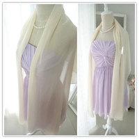 Free shipping fashion ultra long 200CM chiffon pashmina wedding dress echarpes bridesmaid dress thin silk scarf