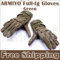 Armiyo Military Army Gloves Hands Protective Equip Full Finger Tactical Cycling Riding Hunting Swat Work Gloves Green