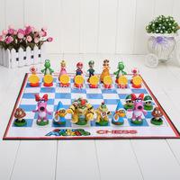 1 set 32pcs/set Super Mario Bros Chess PVC Action Figures Toys high quality