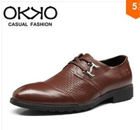 Okko autumn genuine leather casual leather men's fashion trend casual shoes male shoes male 6301