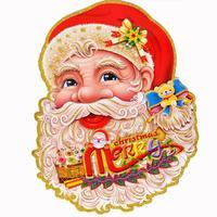Christmas decoration sticker glass sticker a pair of 35 * 25cm( of much money random)