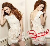 RBC 769 Modern Cap Sleeve Sheath Short Party Dress Short Mini Vestido De Festa Appliques Lace Evening Dress