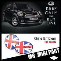MINI COOPER Car Fron Grille Sticker Emble For MINI COOPER Diameter=80mm