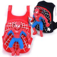 2014 amazing  spiderman Cartoon superpowered 3d dolls infant children backpack school bag kindergarten children bag