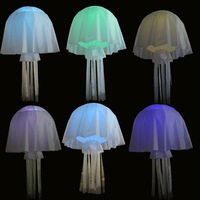 2014 New Jellyfish lamp shade inflatable droplight RGB flash lights in1m diameter ball high quanlity best service