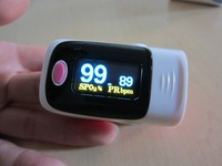 OLED Fingertip Pulse Oximeter alarm Spo2 Blood Monitor 4 directions & 6 modes! 5 color avaliable blue grey pink purple green