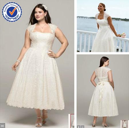 tea length plus size wedding dresses - 100 images - plus figure