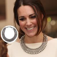 Princess Kate Same Design Luxury Brand ZA High Quality Jewelry Crystal Bib Choker Statement Necklace PBN-177