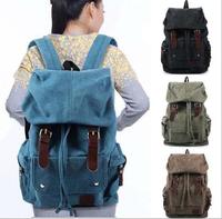 Women Men Vintage Canvas Backpack Laptop Shoulder Bags Casual Travel Bag Outdoor Backpacks