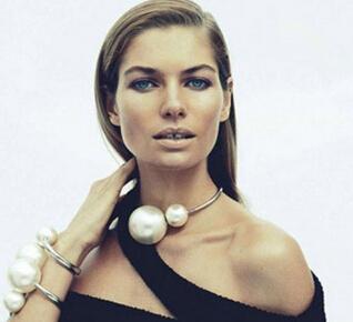 Min.$10 2014 hot Модный Золото silver metal Женщины's big simulated pearl Воротник ...