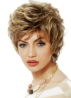 New Arrivals Fiber Synthetic Wig High Quality Heat Resistant Synthetic Blonde Short Wigs Short Lace Front Wavy/AJ-1001