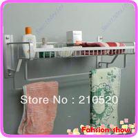 D19+Free Shipping Towel Rack Basket Space Aluminum Wall Mounted Luxury Bathroom Shelf Shelves New Arrive