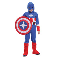 Halloween costume for women chilren captain America Super Soldier cosplay Jumpsuit clothing  dress fantasia stage