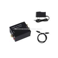 Digital Optical Coaxial Signal To Analog Audio Converter US UK Adapter RCA Free Shipping