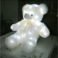 Colorful luminous light-emitting pillow plush toy teddy bear doll christmas birthday gift