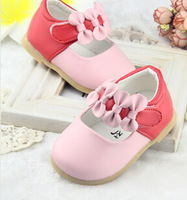 New Design 2014 Baby Girls Christening Shoes Infant Toddler Baby Girl Soft PU Leather Baby Shoe First Walkers Newborn Gifts