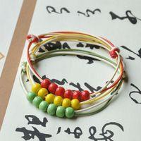 unique handmade knitted bracelet small bead bracelet simple elegant