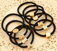 free shipping Korean hot sale  wholesale black rubber band hair ring elastic hair bands hair accessories 10pcs/lot