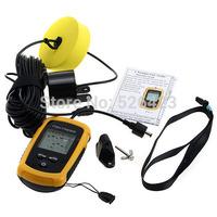 100M LCD Display Portable Sonar Sensor Alarm Transducer Fish Finder