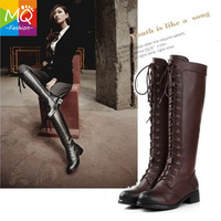 women motorcycle boots ankle long boots women genuine leather shoes Winter Warm boots Martin boots women pumps New 2013  WS3038