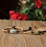 Handmade accessories handmade knitted bracelet unique crack glaze flower is