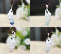 Unique ceramic beans chromophous jingdezhen ceramic jewelry crack necklace handmade button