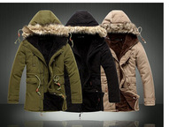2012winter Hot-selling male wadded jacket with a hood outerwear thick thermal cotton-padded jacket outerwear free delivery