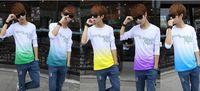 2014 Seconds Kill Sale Full T-shirt Fashion Men's Long Sleeve Quality Leisure Slim Men Summer Multicolor Letters Printed Cotton