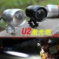 2x Motorcycle fog light CREE U2 LED Moto headlight 12/24/48/60v Motor daytime flash spotlight Off roads Fog lamp with Strobe