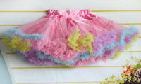 children pettiskirts girls ball gown colorful princess skirt kids beautiful tutu bowkont skirt cd23-05