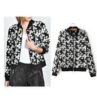 2014 autumn and winter women's retro print long sleeve women jacket Slim casual jacket collar Hot wild Blouse (AA60)