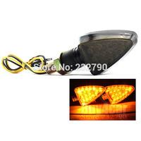 Universal Motorcycle Turn Signals Blinker Indicators Light 18 Led Flash Bulb Amber #3631
