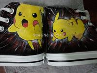 Pokemon Pikachu Custom Sneaker High Top Canvas Shoes for Boys Girls Anime Shoes