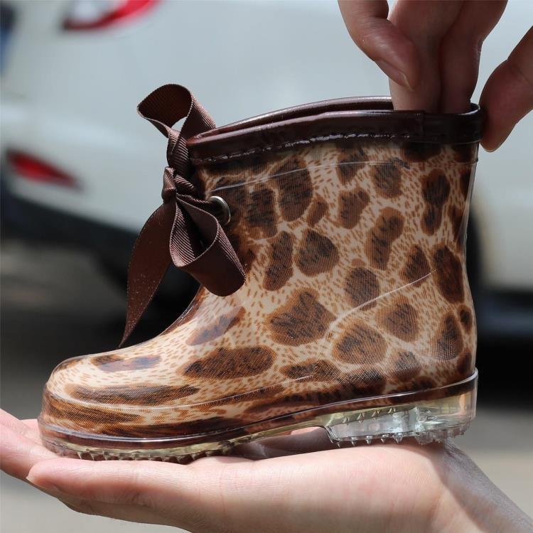 2014 neue mode Leopard kinder kinder regen stiefel für Baby/Jungen/Mädchen wasserdicht& rutschfeste schuhe bogen gummistiefel