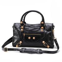 2014 women's handbag motorcycle bag handbag daikin Medium city rose gold ingot messenger bag