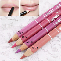 500pcs DHL free shipping  Waterproof cosmetic lip liner makeup lipstick good purple nude pink color