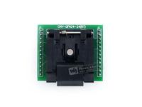 QFN24 TO DIP24 (A)  Enplas QFN24 MLF24 MLP24 QFN-24BT-0.5-01  IC Test Socket Adapter 0.5mm Pitch