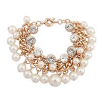 Min Order $10,HOT!Casual Fashion Chain Pearl clover Bracelet Charm Rhinestone Bracelets Jewelry Flower,Arm Bracelets,B10
