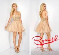 RBC 773 Cute Ball Gown Party Dresses 2014 Hot Selling Short Mini Evening Dress Crystal Vestido De Festa Curto