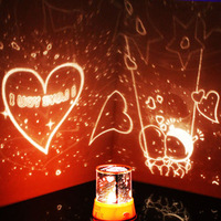 Free shipping! Lamp rotating star lamp projector diy star light Romantic gift with romote