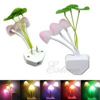 1pc Colorful Romantic LED Mushroom Night Light DreamBed Lamp Home Illumination