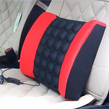 4 Colors Car electric massage lumbar support vehienlar household cushion car cushion tournure auto supplies KF