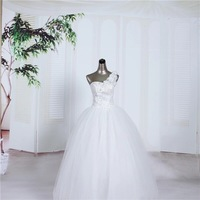 Hot 2014 new cheap wedding dress one-shoulder sweetheart floor-length bridal gowns with flowers
