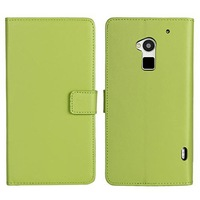 Cowskin Flip Leather Wallet Card Pouch Stand Back Case Cover For HTC One Max T6